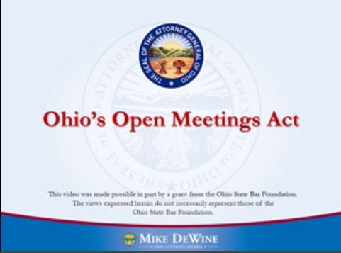 Thumbnail Image of Open Meetings Act Overview