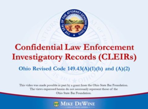 Thumbnail Image of Confidential Law Enforcement Investigatory Records (CLEIRs)