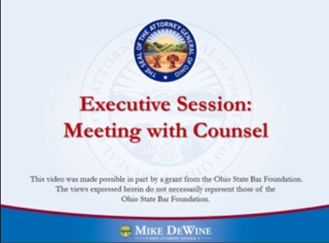 Thumbnail Image of Executive Sessions to Consult With Legal Counsel