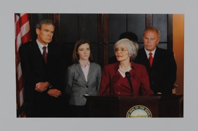 Historical Preservation: Photograph of Swearing-in Ceremony of Attorney General Nancy Rogers