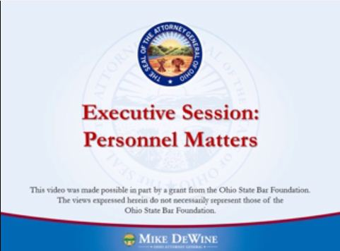 Thumbnail Image of Executive Sessions to Discuss Personnel Matters