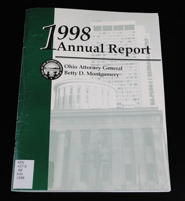 Historical Preservation: 1998 Annual Report of Attorney General Betty D. Montgomery