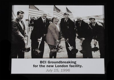 Historical Preservation: Photograph of Attorney General Betty D. Montgomery at the BCI Groundbreaking